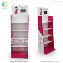 wholesale cardboard stand make up display stand with mirror