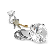 Wholesale K9 Crystal Diamond Key Ring For Wedding Take Away Gift