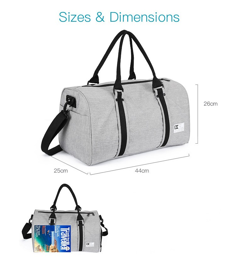 china Fashion cheap Gym Tote Bag Sports Oversize Weekend Travel Bag  Duffel Bag with Shoes Compartment
