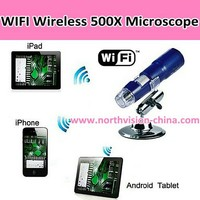 Wifi optical microscope with 30m working distance