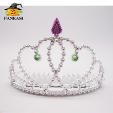 Wholesale Plastic princess tiara crown for girls
