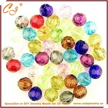 Mulit Color Transparent Plastic Bead Wholesale for DIY Jewelry