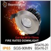 90minutes 8W 10W fire rated led downlight with 5years warranty