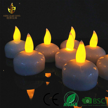 Wholesale Waterproof Color Changing Plastic Floating Led Candle Light, Led Flameless Tealight Candle with Water Sensor