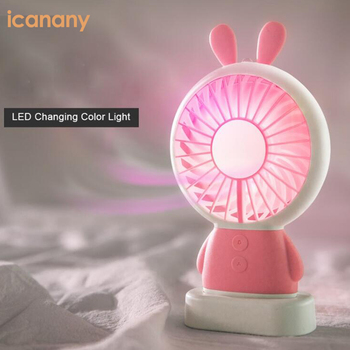 Rechargeable Handheld Two Speed Adjustable Powerful Small Mini LED USB Portable Fan