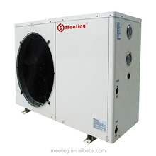 Meeting mini split heat pump for home heating and hot water supply