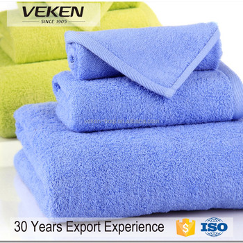 veken products rich export experience euro style plain towel set