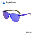Trend Colourful high standard quality rimless frame fashion sunglasses