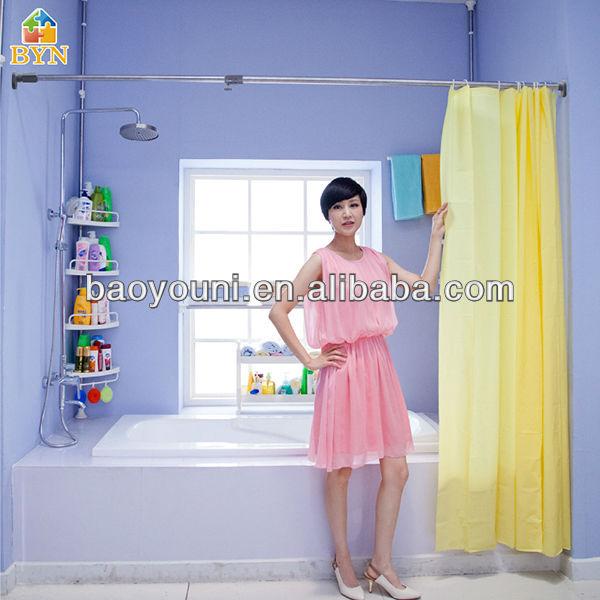 Tringle rideau de douche byn flexible tringle rideau rideau en plastique - Tringle rideau de douche ventouse ...