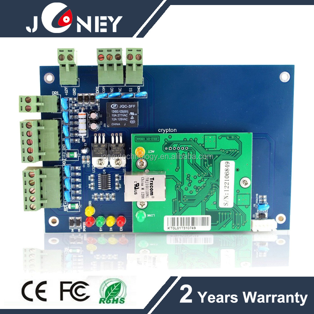 TCP/IP RS232/485 Wiegand RFID Single door access controller board