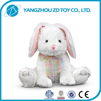 fashion new style soft polyester white rabbit plush toys