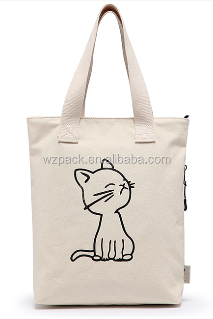 Customize Handmade Cotton Linen Eco Reusable Shopping Shoulder Bag Tote shopping bag