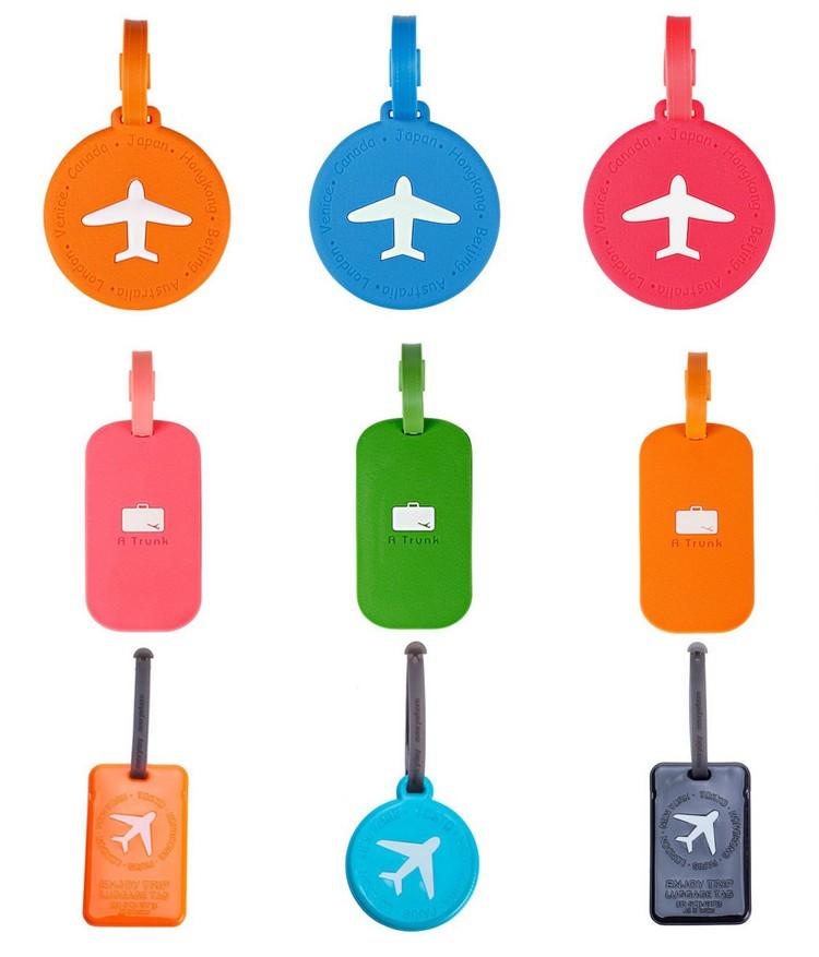 Custom Shape Wholesale Silicon Rubber Luggage Tag Buy
