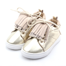 Kids Girls Boys Lace Up Leather Sport Children Shoes Fashion 2018