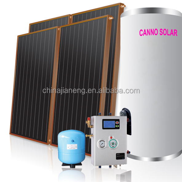Portable Solar Water Heater : Portable split pressured flat panel solar water heater