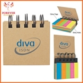 Five Color Sticky Flags With Spiral Binding 125 Sheets Sticky Notes 7.9*7.6*2.5cm Sticky Notes Chinese Supplier