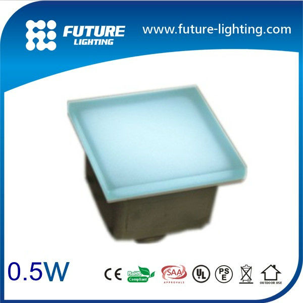 Waterproof outdoor square recessed LED Shine floor tile light