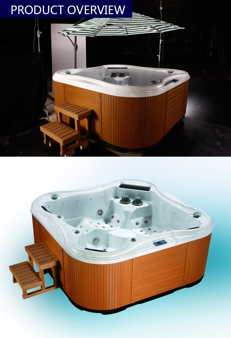 Factory China Supplier OEM Wholesale With US Balboa System Outdoor Whirlpool Spa Product Free Sex USA Hot Tub