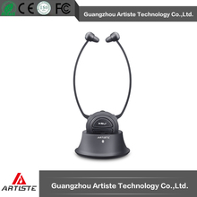 Chin wireless bluetooth earbuds with hearing aid function for elderly people