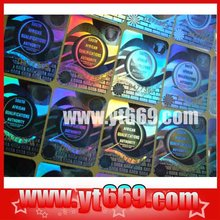 Glitter image anti-counterfeit hologram static sticker