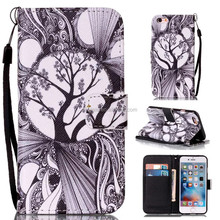 Flip Magnetic Leather Wallet Case Flower Printing Cartoon Cover Phone Shell For Apple Ipod Touch 5 6 Mobile Phone Accessories