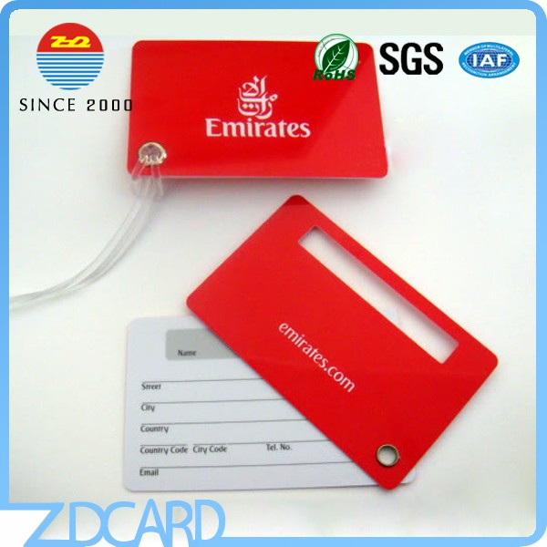Custom made Airport Plastic Luggage Tag
