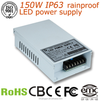 power supply ac dc 24v 150w 12v/24v waterproof electronic led driver IP63