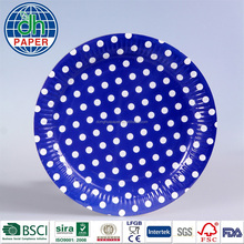 Fancy Paper Plates( Blue Polka Dot Paper Plates)