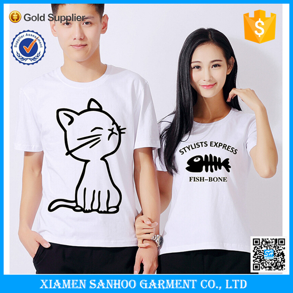 Promotional Online Shopping Wholesale Plain Couple T Shirt Cheap Family T shirt
