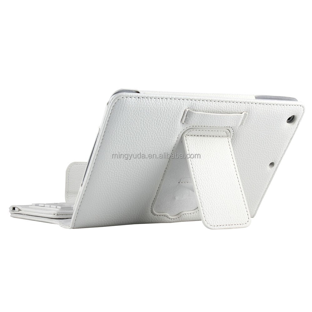 Magnetic removable keyboard leather case for IPAD Mini4