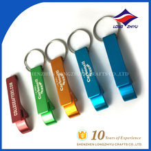 Beautiful color custom design carbonell cheap bottle opener keychain
