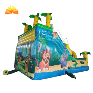 Inflatable bouncy castle with water slide for kinds