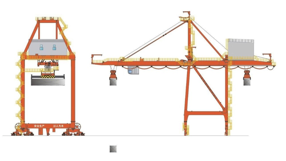 Ship to shore gantry crane parts : Rtg rmg quayside container crane t used in sea port