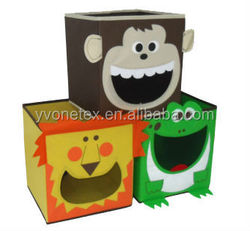 New hot sale printing foldable non woven storage box for kids