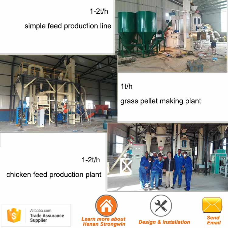 diesel engine simple chicken animal feed pellet making machine