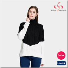 Ladies woolen sweater design of hand knitting pullover