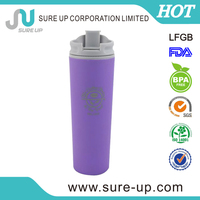 insulated tumbler with foldable straw