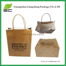 Environmental cheap brown kraft paper bags with handles
