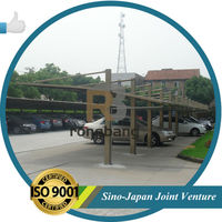 attached wall aluminum carport with PC roof -LR-S MODEL
