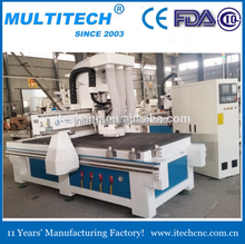 high speed!panel furniture production /auto feeding /drilling machine F2-9 cnc router with boring head