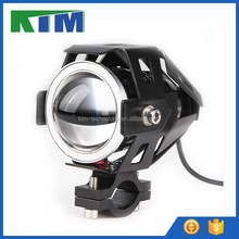 KIM 15W 1500LM LED U7 motorcycle front headlights car spotlighting fog lamp with white angel eyes