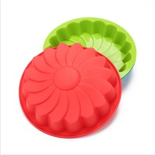 Round Silicon Moulds Cake Mould Heat Resistant Oven Baking tools