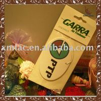 paper car air freshener with header card