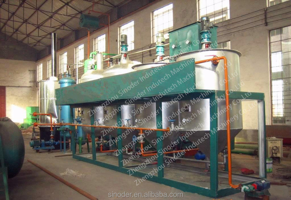1T/D-100T/D oil refining equipment small crude oil refinery soybean oil refinery plant edible oil refinery plant