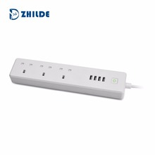 UK Smart Wifi Surge Protector Power Strip 3 AC Outlets 4 USB Ports Works with Alexa Extension Socket