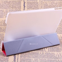 For ipad air leather case with frosted pc case cover new folded smart cover for 2014 new trendy case made in China