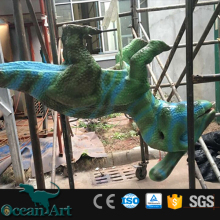 OAM 2981 realistic blue dinosaur costume child small on hot sale