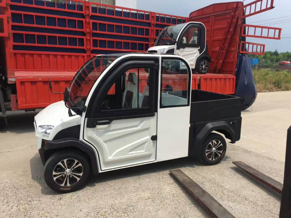 2doors 2 seaters large space electric vans with goods bucket