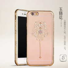 Phone accessories mobile luxury fashion design chrome diamond cover for iphone 7 7 plus Rhinestone case
