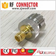 UHF Female To SMA feMale Straight RF Connector Adapter